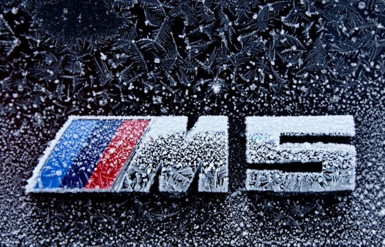 Frozen BMW M5 badge