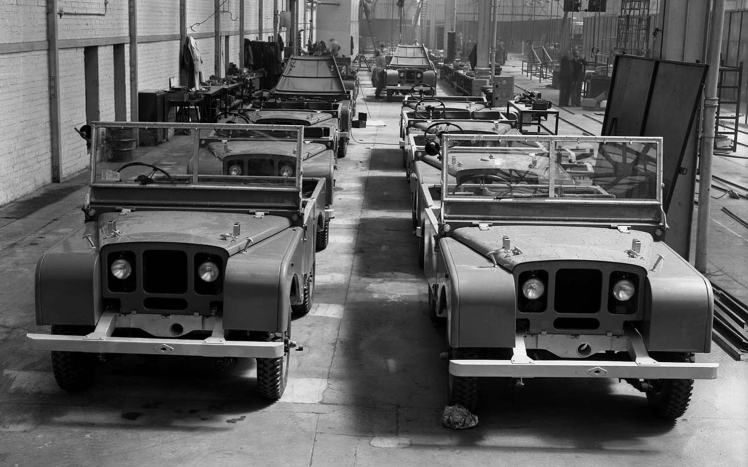 Land Rover Series 1 assembly line