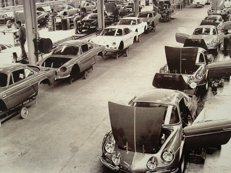 Alpine A310 assembly line
