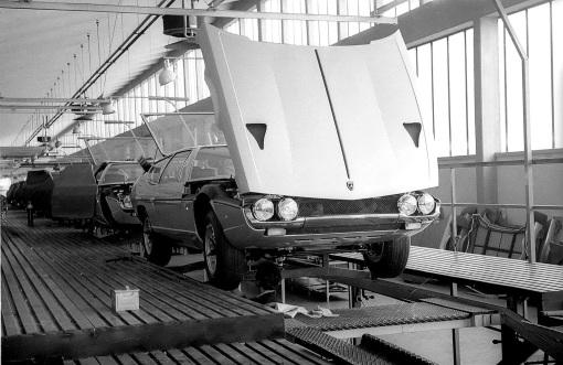 Lambroghini Espada assembly line