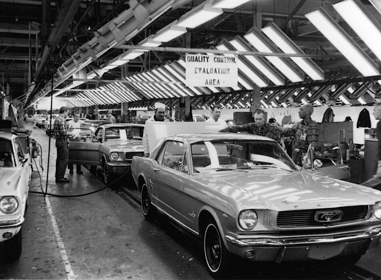 Ford Mustang assembly line
