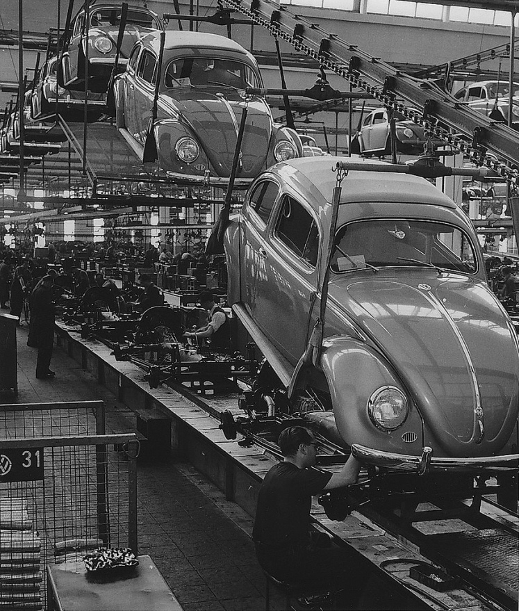 Volkswagen Beetle assembly line