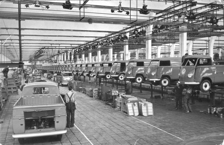 Volkswagen Bus assembly line