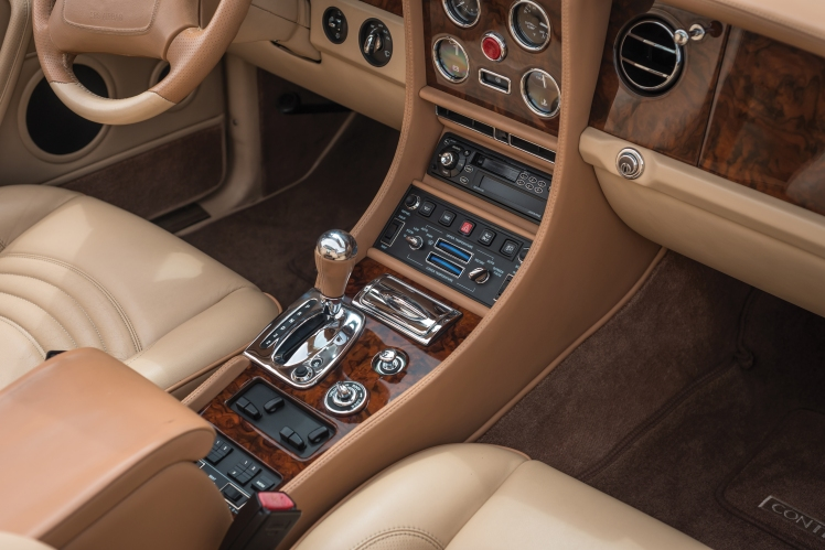 1999 Bentley Continental SC (blue) interior